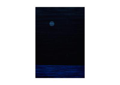 Noche de luna llena sobre el mar </br>2017