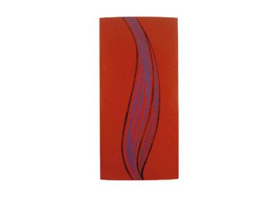 nº 145 Transmutación de la llama 2002 Técnica mixta sobre lienzo 250x120 cm