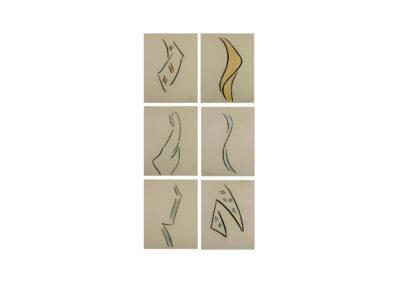 nº 148 Grupo silueteal 3 Pastel sobre papel 221x122cm