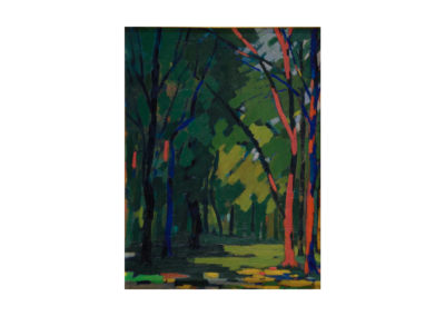 El bosque iluminado 1966 Óleo sobre table 77x58 cm
