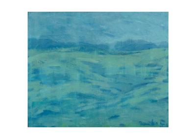 Valle en invierno 1968 Óleo sobre lienzo 54x65 cm