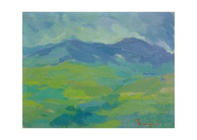 Montesde Galicia 1968 Óleo sobre lienzo 50x65 cm