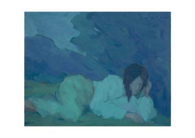 nº11 Campesina en reposo. 1967 Óleo sobre lienzo 72x91 cm.