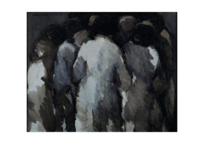 nº 26 Grupo de mujeres. 1973 Óleo sobre lienzo 65x81 cm.