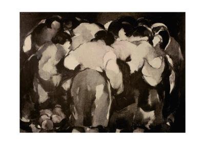 nº 29 Mercado. 1975 Óleo sobre lienzo 110x150 cm.