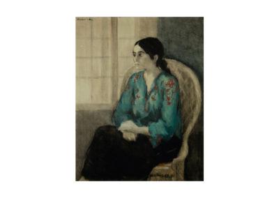 nº 22 Retrato de Mª-Esther. 1975 Óleo sobre lienzo 100x81 cm.