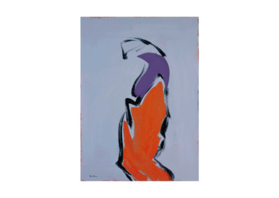 La figura cansada 1989 Acrílico sobre cartón piedra 91x72 cm