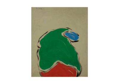 La obesa va sin rumbo 1989 Acrílico sobre lienzo 73x60 cm