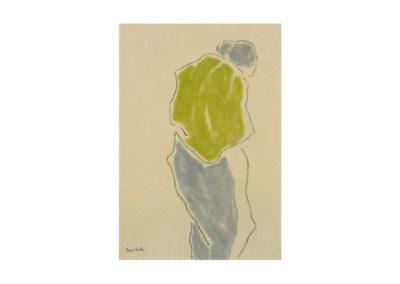 nº 44 Paisana. 1983 Carbón y pastel sobre papel 66x46 cm.