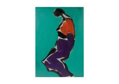 Toda expuesta en sí 1989 Acrílico sobre lienzo 145x100 cm