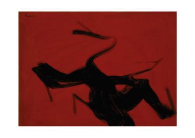 Después de la quema 1989 Acrílico sobre cartón piedra 75x105 cm