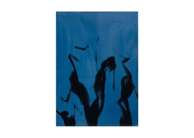 Árboles en la noche 1989 Acrílico sobre cartón piedra 105x75 cm