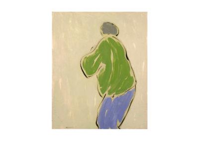 nº 48 Mariñeiro. 1985 Óleo sobre lienzo 80x70 cm.