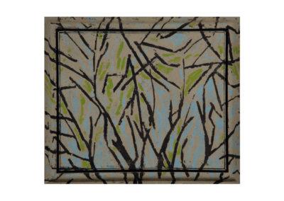 El bosque de mi infancia 1995 Técnica mixta sobre lienzo 66x78 cm