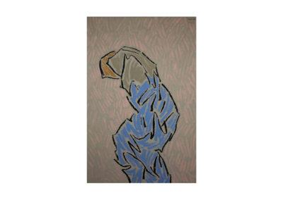 La figura cansada pasa de largo 1993 Técnica mixta sobre lienzo 195x130 cm