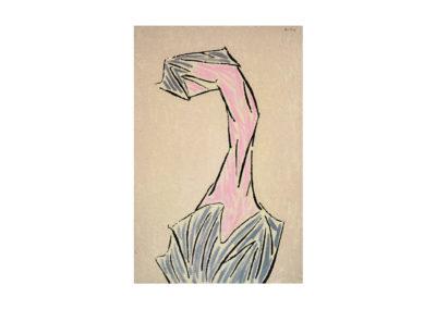 La mujer que se imprime con... 1992 Técnica mixta sobre lienzo 195x125 cm