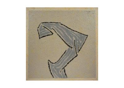 nº 108 Figura en gris. 1994 Técnica mixta sobre lienzo 153x153 cm.