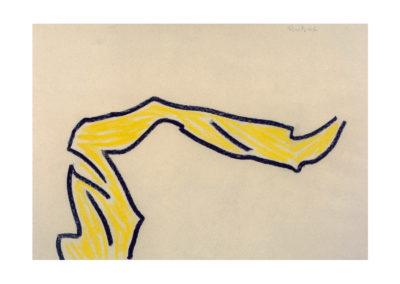 nº 112 La huída. 1998 Pastel sobre papel 70x100 cm