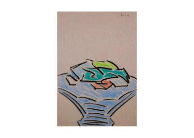 nº 114 Sin título. 1995 Carbón y pastel sobre papel 100x70 cm.