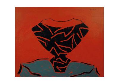 Cerámica sobre la mesa 1996 Acrílico sobre cartón piedra 100x120 cm