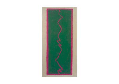 La caída del rayo 1995 Técnica mixta sobre lienzo 195x97 cm