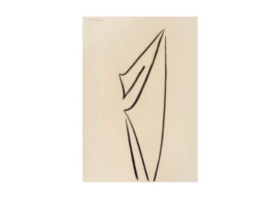 nº 128 Silueta escultórica 1998 Carbón sobre papel 100x70 cm