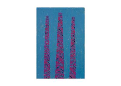 Rojas chimeneas de Queens 1993 Técnica mixta sobre lienzo 200-x150 cm