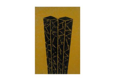 Las gemelas de Manhattan 1994 Técnica mixta sobre lienzo 195x130 cm
