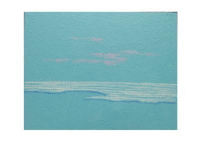 El mar besando la playa 2. 2017 Técnica mixta sobre lienzo 150 x 195 cm