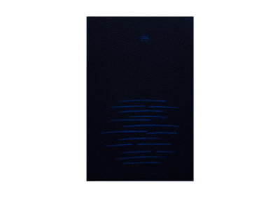 Reflejos en la noche 2017. Técnica mixta sobre lienzo 195 x 130 cm