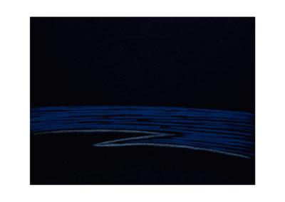 Remanso del mar en la noche 2017. Técnica mixta sobre lienzo 147 x 195 cm