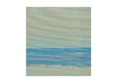 Las pequeñas olas besan la arena 2017 Acrílico sobre cartón rugoso 150 x160 cm