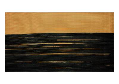 Mar oscura 2017 Acrílico sobre cartón rugoso 84x158cm