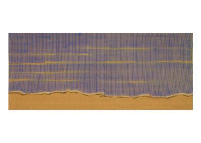 Pequeñas olas besando la arena 2017 Acrílico sobre cartón rugoso 73x175 cm