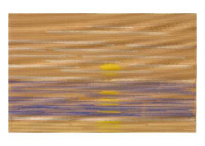 Suave atardecer sobre el mar 2 2017 Pastel sobre cartón rugoso 69x107 cm