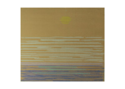 Suave atardecer sobre el mar 2017 Pastel sobre cartón rugoso 95x108 cm
