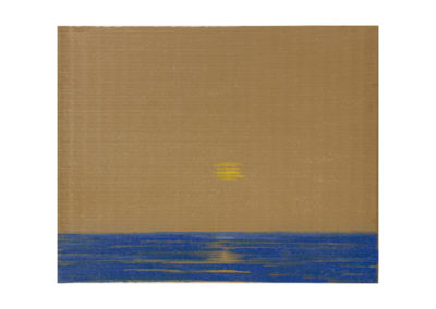 Tarde de julio sobre el mar de Aguete 2017 Acrílico sobre cartón rugoso 125x160cm