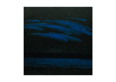 Tormenta sobre el mar de la lanzada 2017 Técnica mixta sobre lienzo 195x195 cm
