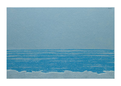 Amanecer en el mar 2017 Tecnica mixta sobre lienzo 130x195cm