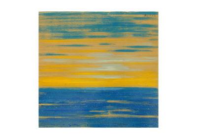 Atardecer sobre la lanzada 2017 Acrílico sobre cartón rugoso 56x56 cm