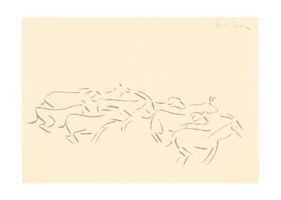 Al redil 2005 Tinta china en plumilla sobre papel 30x42 cm Col Particular