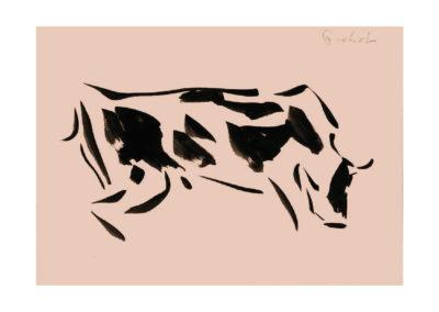 Vaca suiza 2005 Tinta china sobre papel 21x30cm