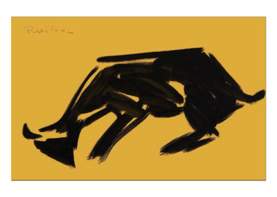 Cabra embistiendo 2007 Tinta china sobre papel 32x50cm