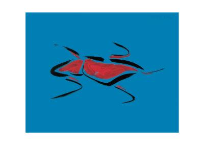 Coleoptero 2008 Tinta china y tempera sobre papel 50x65cm