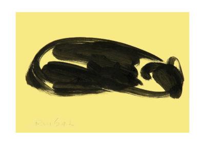 El reposo del familiar felino 2007 Tinta china sobre papel 21x30cm