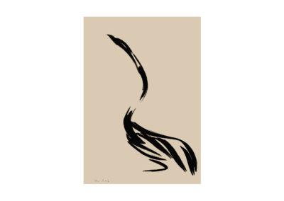 Garza real 2009 Tinta china sobre papel 100x70cm Col Particular