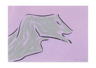 La bestia soñada 2005 Carbon y pastel sobre papel 30x42cm