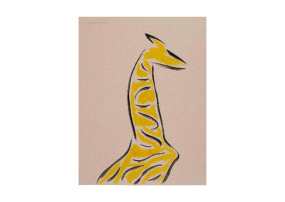 La jirafa oteadora 2007 Tinta china y tempera sobre papel 65x50cm
