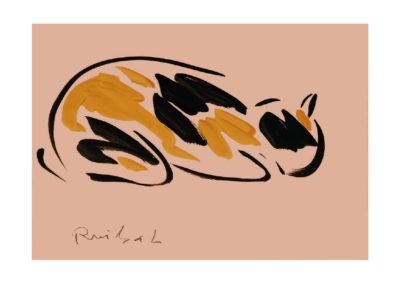Nuestra gata 2008 Tinta china y tempera sobre papel 21x30cm Col Particular