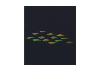 Peces en la mar en calma 2010 Tempera sobre papel 102x121cm